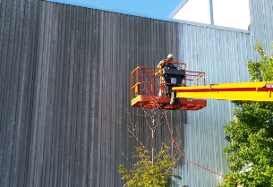 commercial painting, industrial painting, power washing